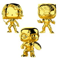 Funko POP! Marvel Studios 10 Gold Chrome Collectors Set 2 - Black Widow, Black Panther, Captain America