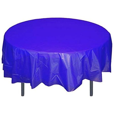 Superb Mountclear Disposable Reusable Plastic Tablecloths 84 Round Table Cover For Party Wedding Decorations 12 Blue Download Free Architecture Designs Grimeyleaguecom