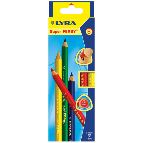 Lyra - Super FERBY Colored Pencil Set - 6-Color Set - Waldorf Selection