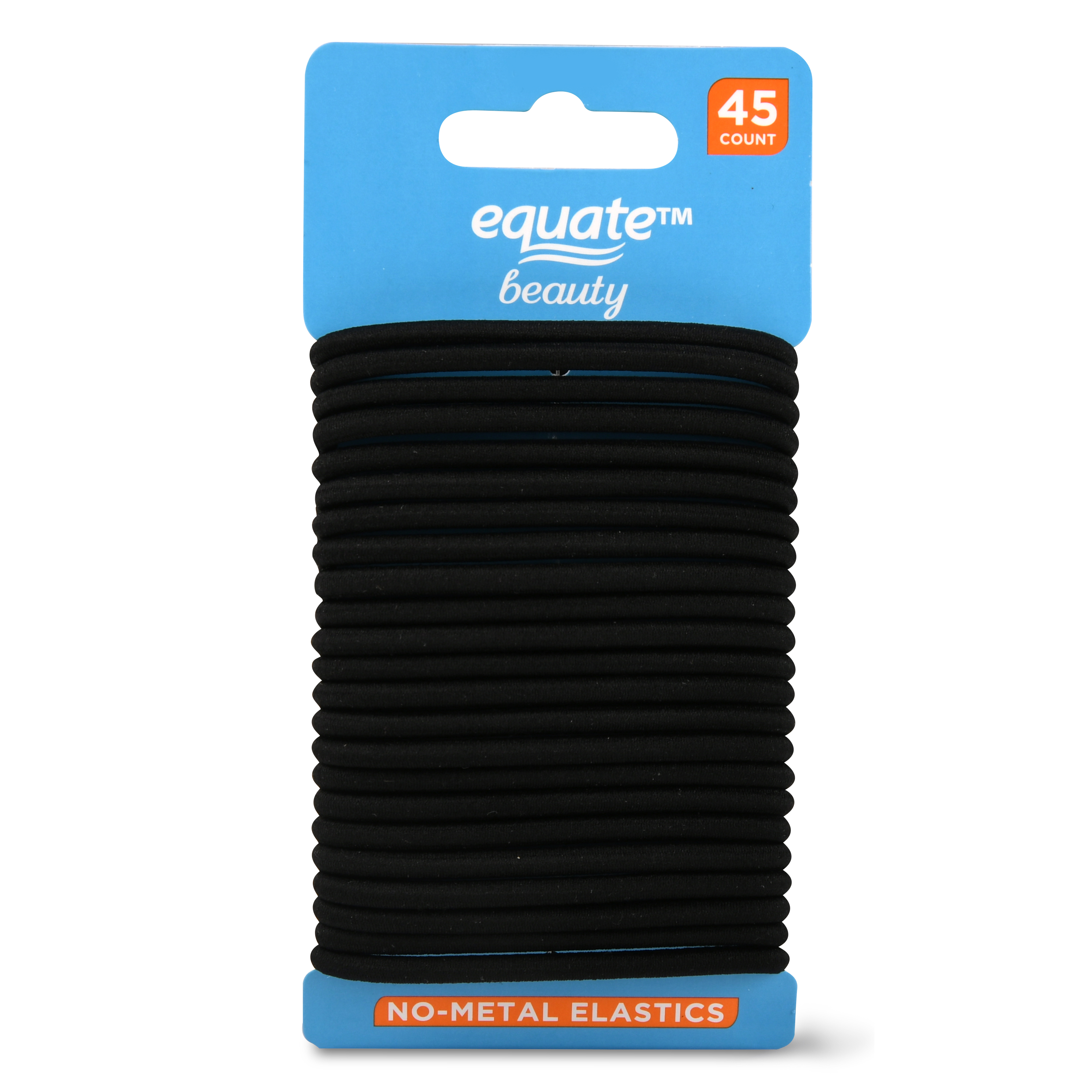 Equate Beauty No-Metal Elastics, 45 Count