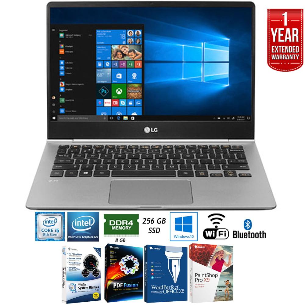 "LG 13.3"" Ultra-Lightweight Touchscreen Laptop with Intel Core i5 13Z980-A.AAS5U1 + Elite Suite 17 Standard Software Bundle (Corel WordPerfect, Winzip,PDF Fusion,X9) + 1 Year Extended Warranty"