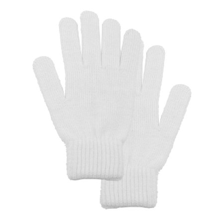 Men and Women's White Winter Gloves