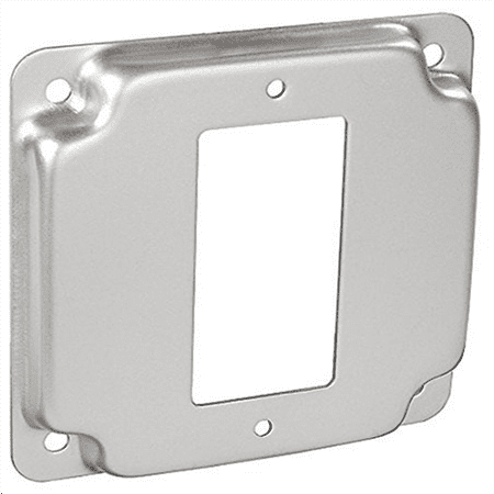 4 Inch Square 1/2 Inch Raised Decorative Or Gfci Receptacle Industrial Surface Cover