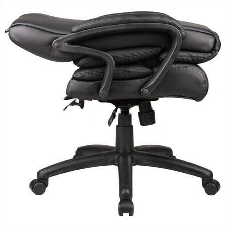 Scranton & Co Knee-tilt Overstuffed Executive Leather Office Chair - image 2 de 3