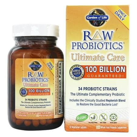 Garden Of Life Raw Probiotics Ultimate Care 34 Probiotic Strains 30 Vegetarian Capsules