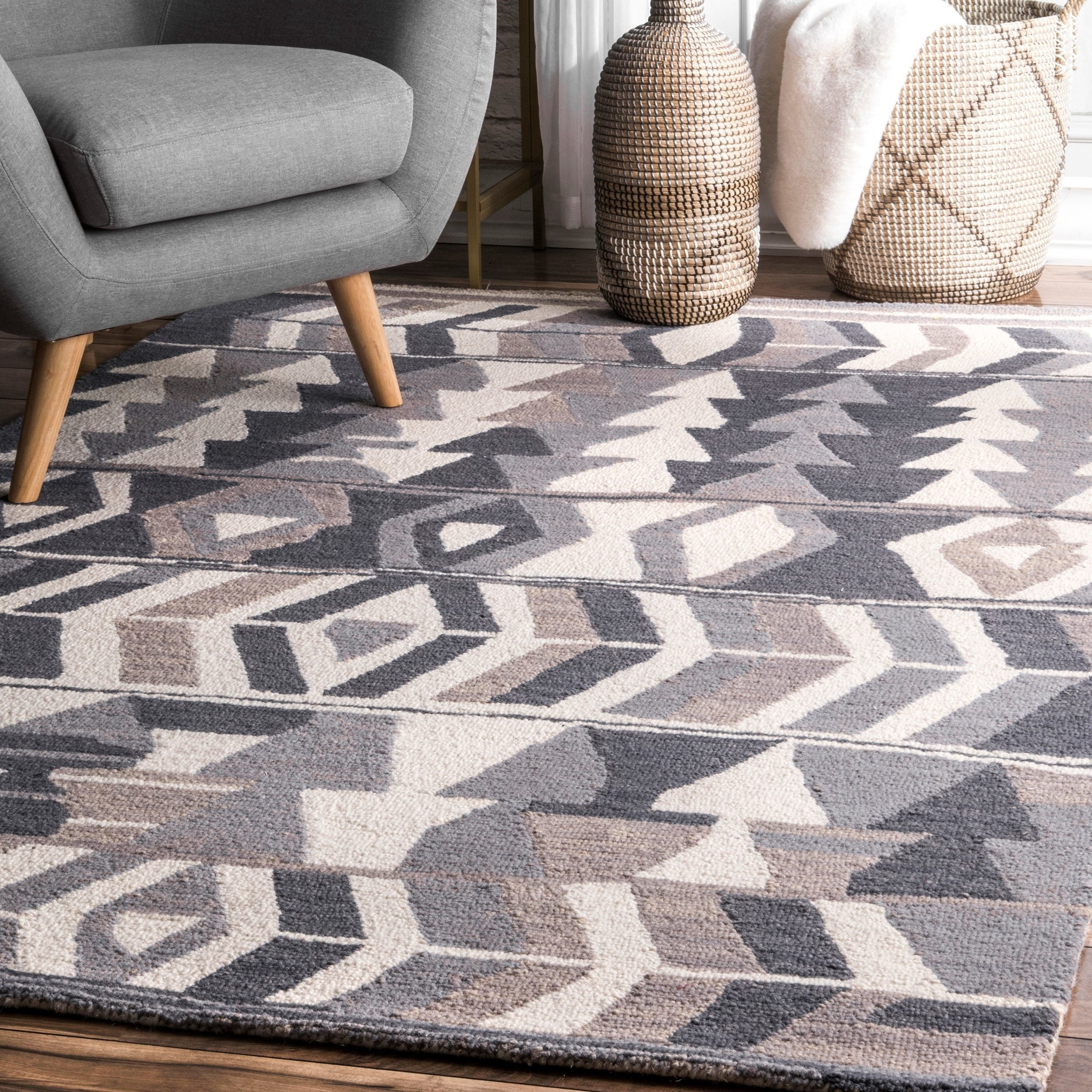 Emerita Multi-colored Modern Area Rug 27 x 73