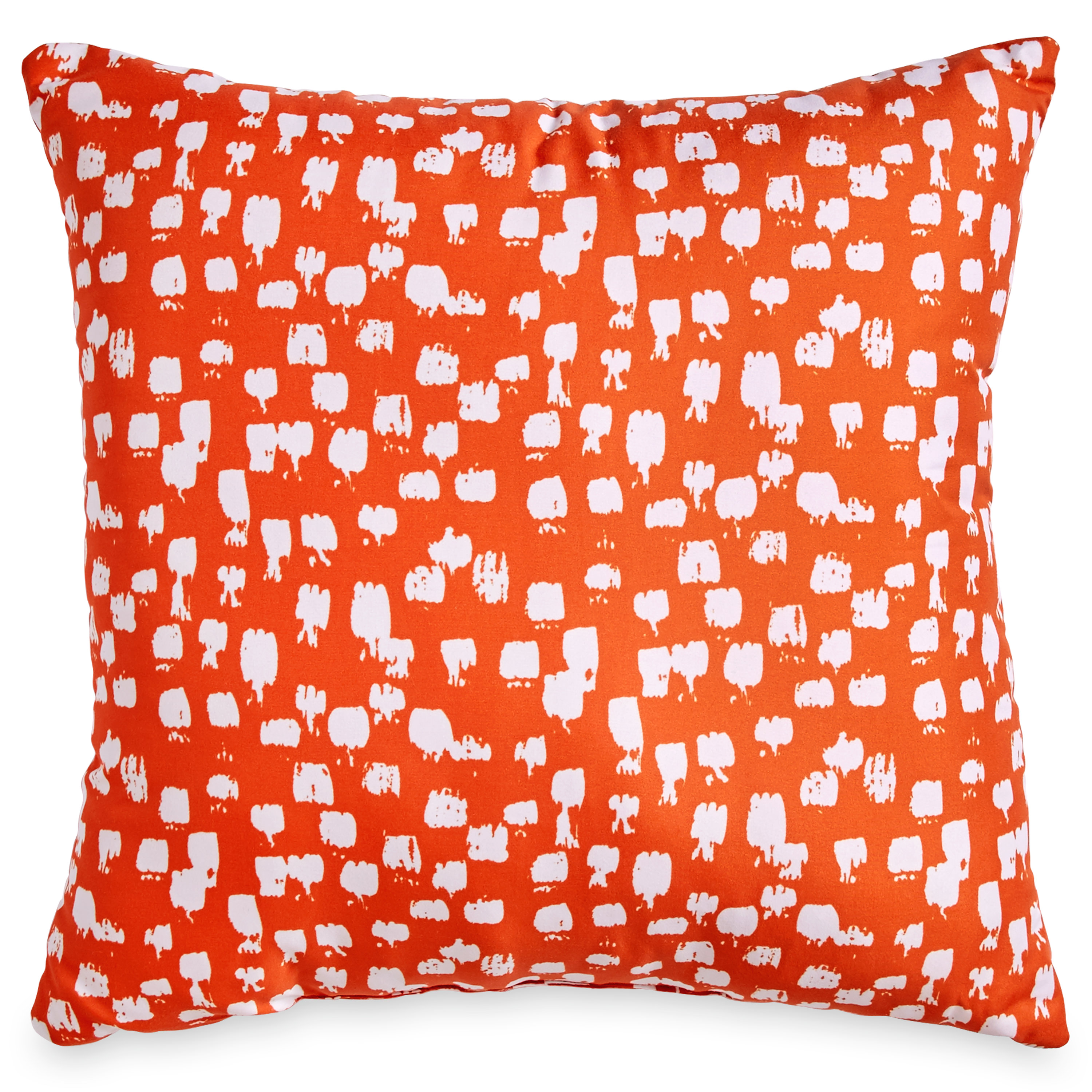 SCRIBBLE 18X18 PAINT BRUSH DEC PILLOW , ORANGE