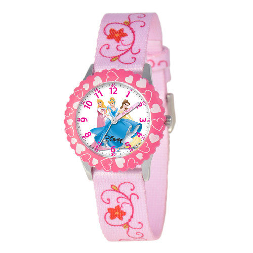 Disney Watches Kid's Princess Time Teacher Watch in Pink with Pink Bezel