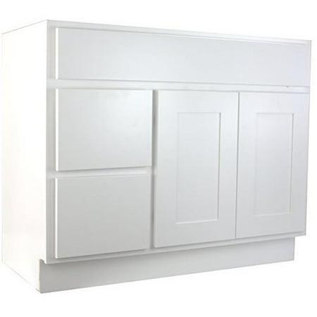 - Cabinet Mania Shaker 42'' Bathroom Vanity Base