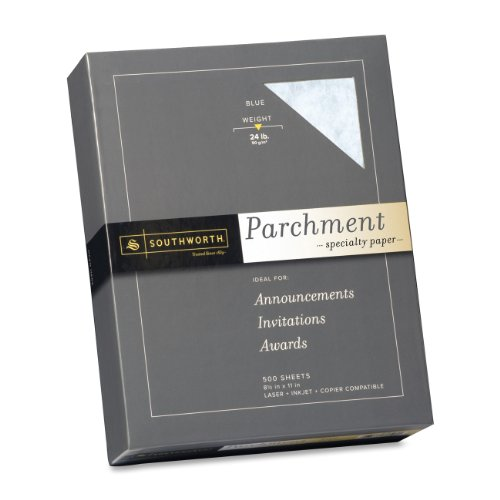 "Southworth 964c Parchment Paper - For Laser Print - Letter - 8.50"" X 11"" - 24 Lb - Parchment - 500 / Box - Natural (964C)"