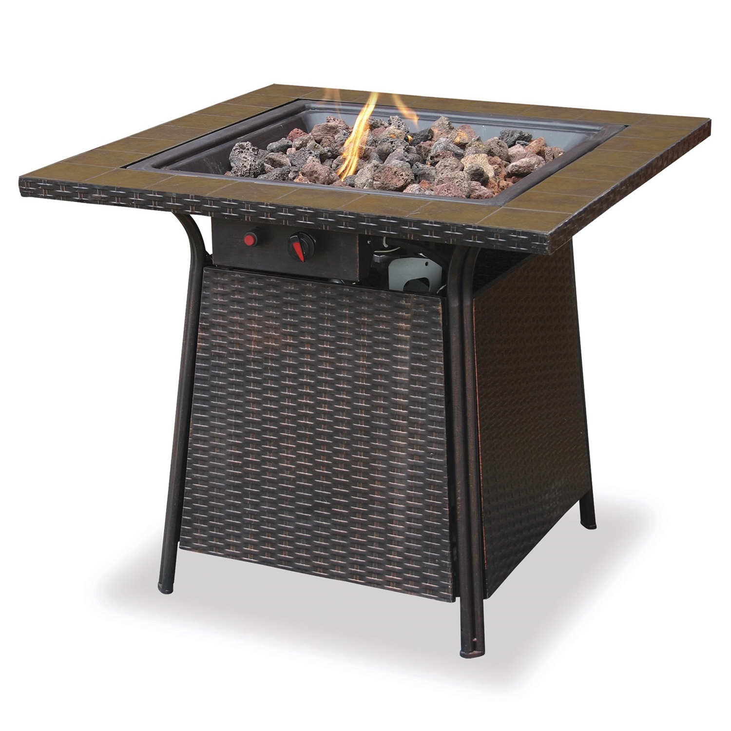"UniFlame 32"" LP Firepit with Ceramic Tile Table by Endless Summer"