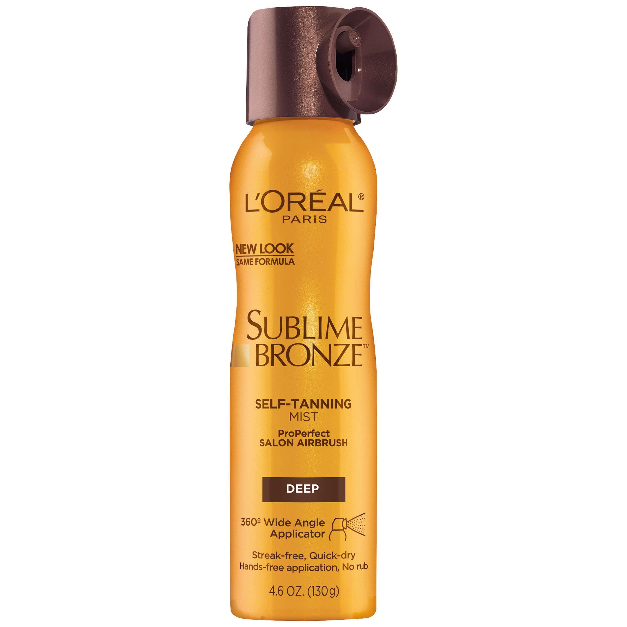 L'Oreal Paris Sublime Bronze Self-Tanning Mist, Deep Natural Tan, 4.6 Oz