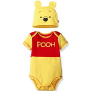 Disney Winnie the Pooh Baby Boys Costume Short Sleeve Bodysuit & Hat Set 24 Months