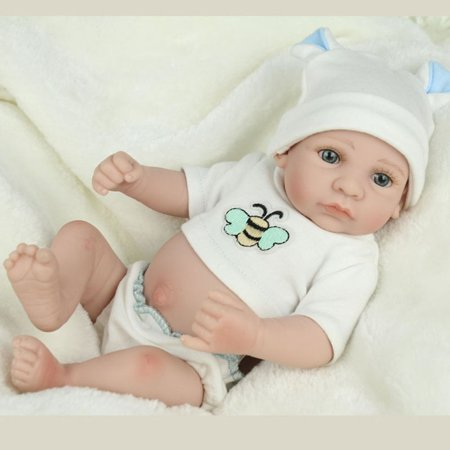 28cm Lovely Kids Reborn Baby Doll Washable Soft Vinyl Lifelike Newborn Doll Girl Boy Best Birthday Gift For Boys Girls - image 5 de 8