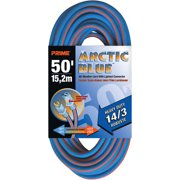 Prime Heavy Duty 50-Foot Arctic Blue All-Weather TPE Extension Cord