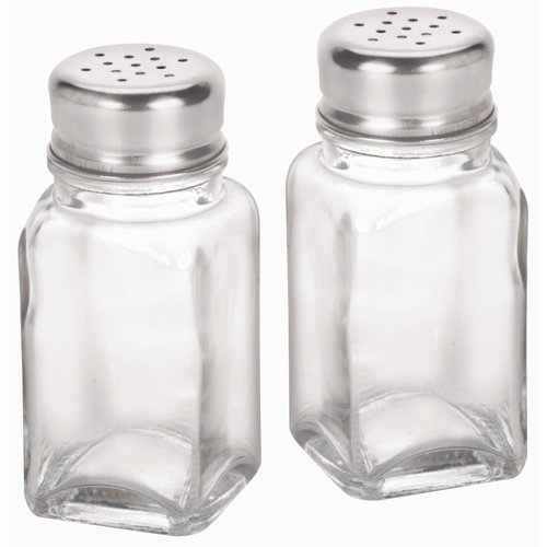Anchor Hocking 4'' Glass Salt and Pepper Shakers (Set of 12)