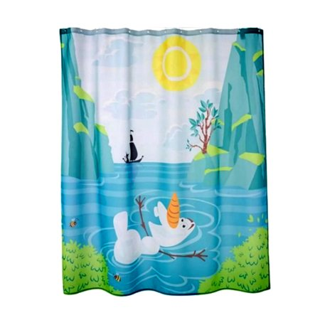Disney Frozen Olaf Shower Curtain Kids Bathroom Accessories