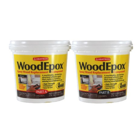 2 Part (A & B - 1 Quart Each) Wood Epoxy Kit