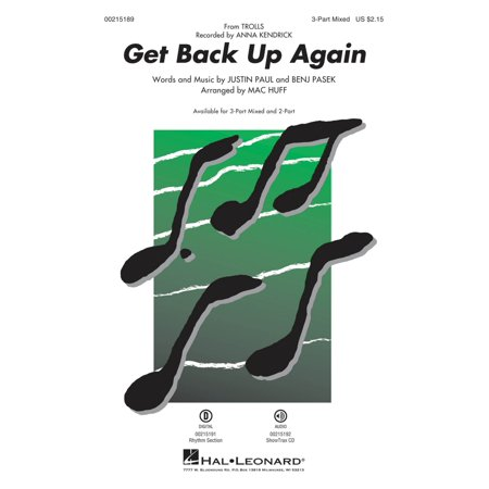Hal Leonard Get Back Up Again (from Trolls) 3-Part Mixed by Anna Kendrick arranged by Mac