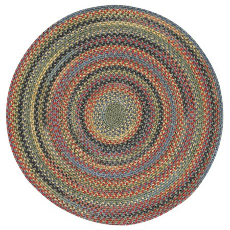 Capel Rugs High Rock 15 in. Round Braided Dining Chair Pad