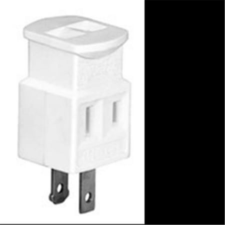 Eaton 4400W-BOX 15-Amp 2-Pole 2-Wire 125-Volt Single Receptacle to Three Outlet Cube Tap, White