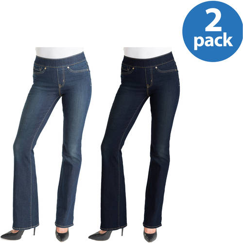 Signature by Levi Strauss & Co. Womens Totally Shaping Pull On Bootcut Jeans 2pk Value Bundle