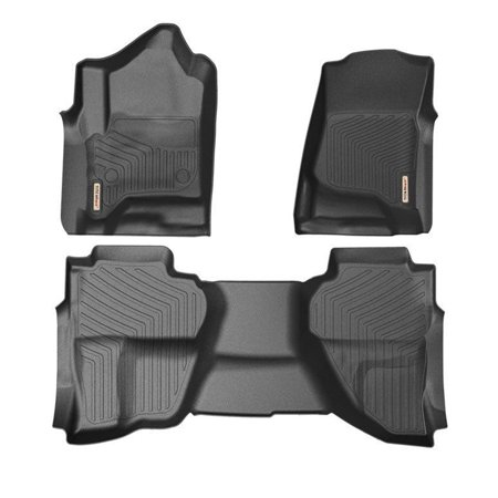 Floor Mats for 2014-2018 GMC Sierra 1500 Extend Double Cab All Weather Protection - Gmc Sonoma Seats