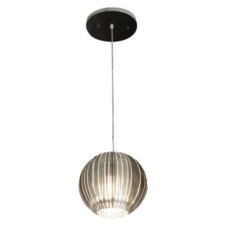 Acclaim Lighting Phoenix - One Light Pendant, Satin Silver Finish with Clear Acrylic Glass