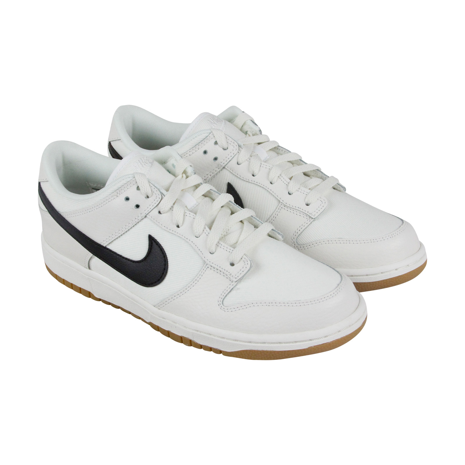 Nike Dunk Low Mens White Canvas Lace Up Sneakers Shoes 8.5