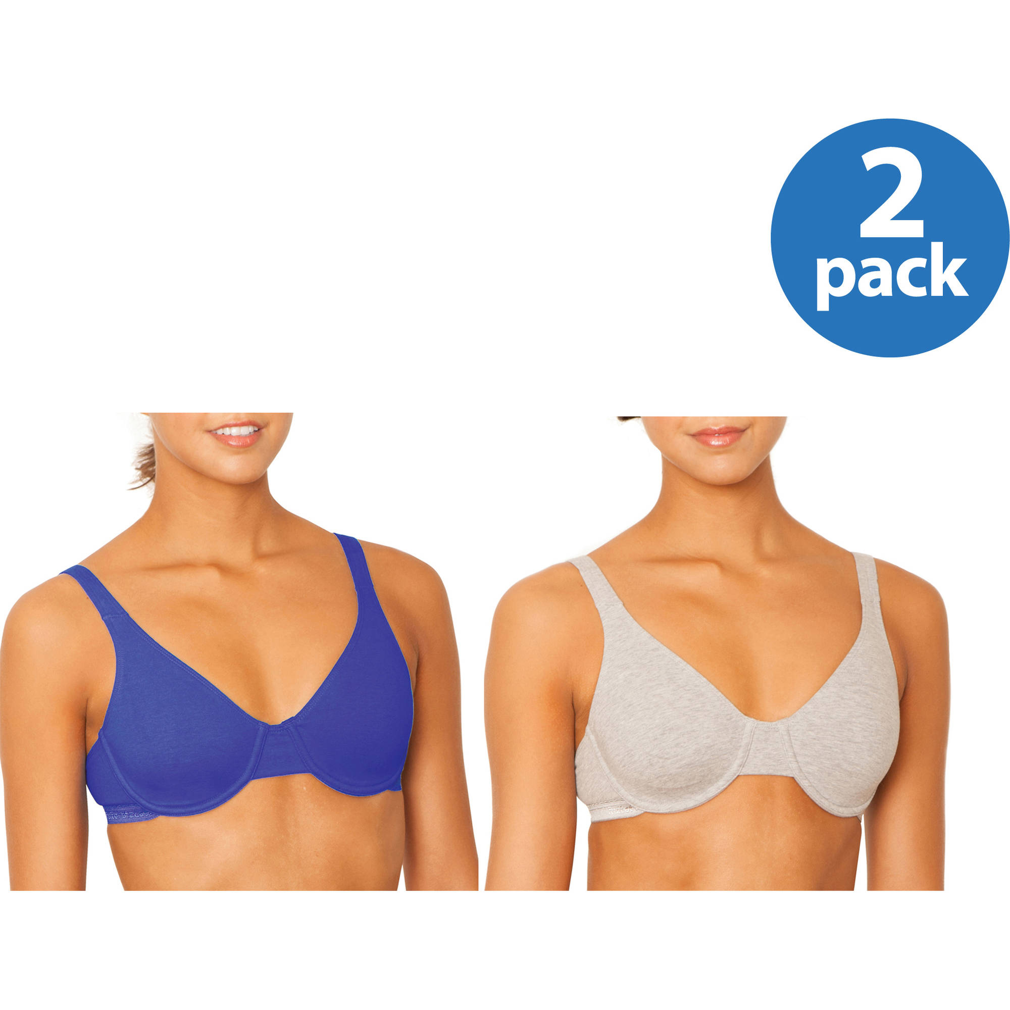 Fruit of the Loom Women's Cotton Stretch Extreme Comfort Bra, Style 9292PR, 2-Pack