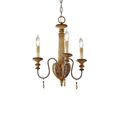 Feiss Annabelle F2735 / 3IC Chandelier - 16W in. - Ivory Crackle