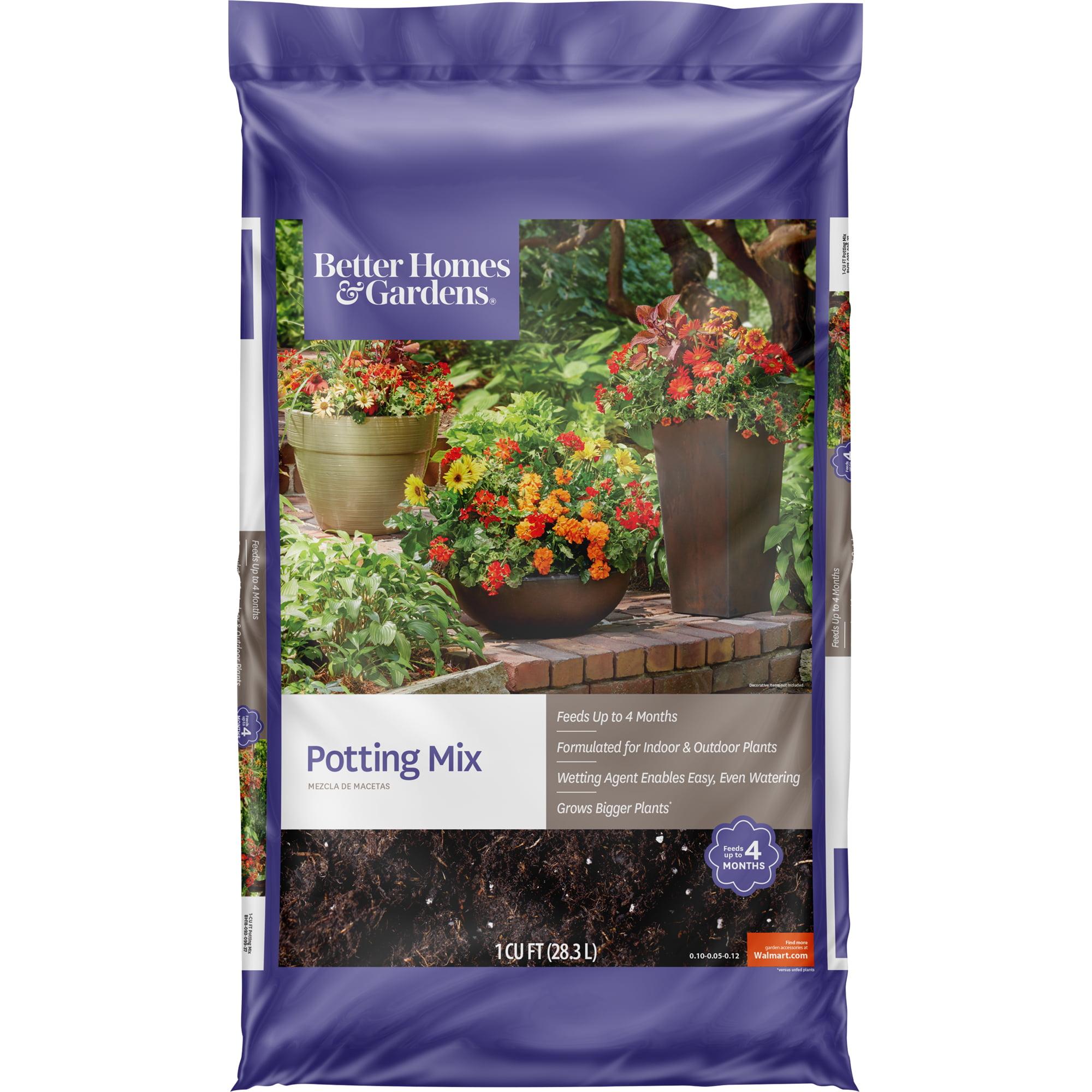 Better Homes & Gardens Potting Mix Planter Soil, 1 Cubic Foot