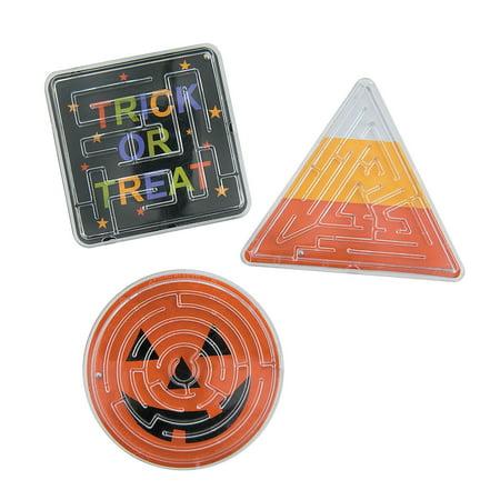 Fun Express - Halloween Printed Maze Puzzles (2dz) for Halloween - Toys - Games - Puzzles - Halloween - 24 Pieces