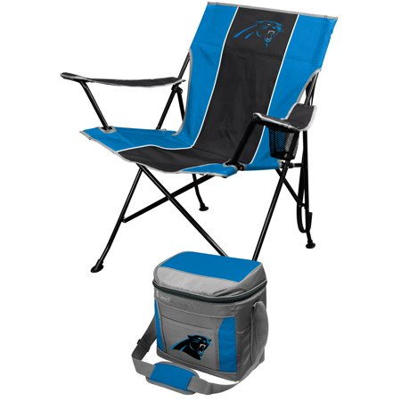 Carolina Panthers Tailgate Chair & Coleman 16-Can Cooler Combo Set - Black - No