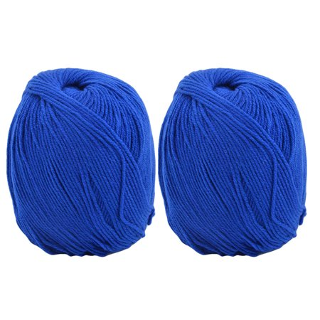Dorm Handmade Scarf Shawl Hat Tatting Knitting Yarn Cord Royal Blue 100g 2