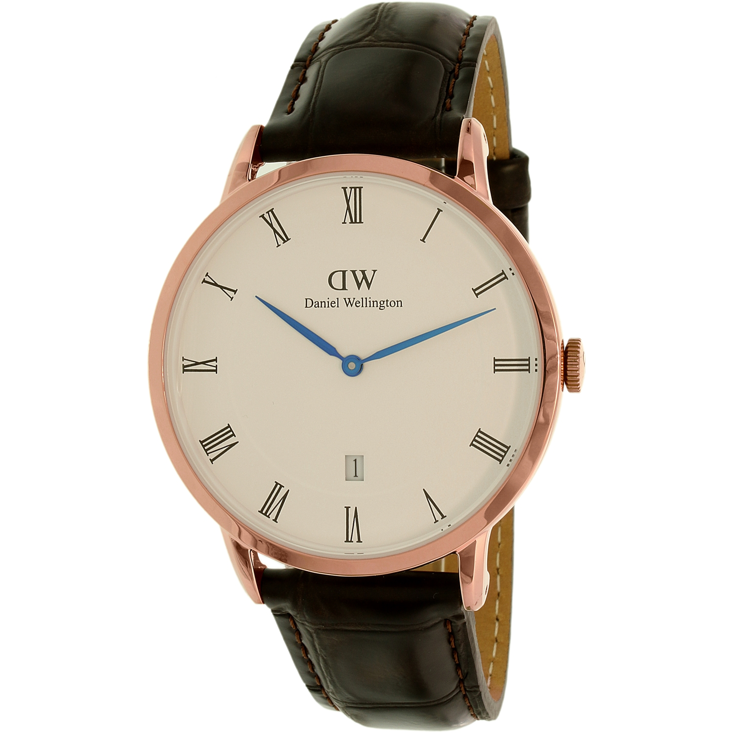 Daniel Wellington Men's Dapper 1102DW Brown Leather Quartz Dress Watch