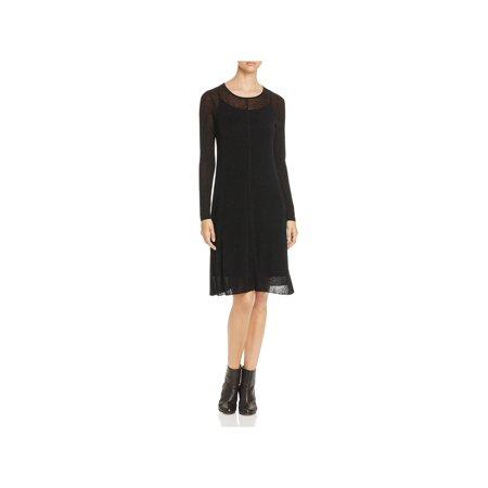 Eileen Fisher Womens Linen Sheer Sweaterdress