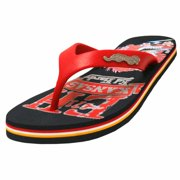 Blue & Red Multicolor Ed Hardy Beach Comber Women's Flip Flops
