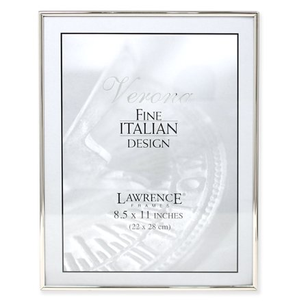8.5x11 Simply Silver Metal Picture Frame