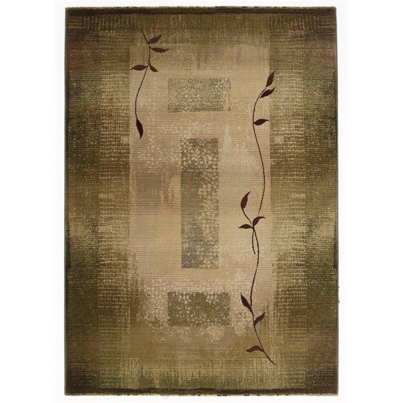 "Oriental Weavers Generations 6'7"" x 9'1"" Machine Woven Rug in Green"