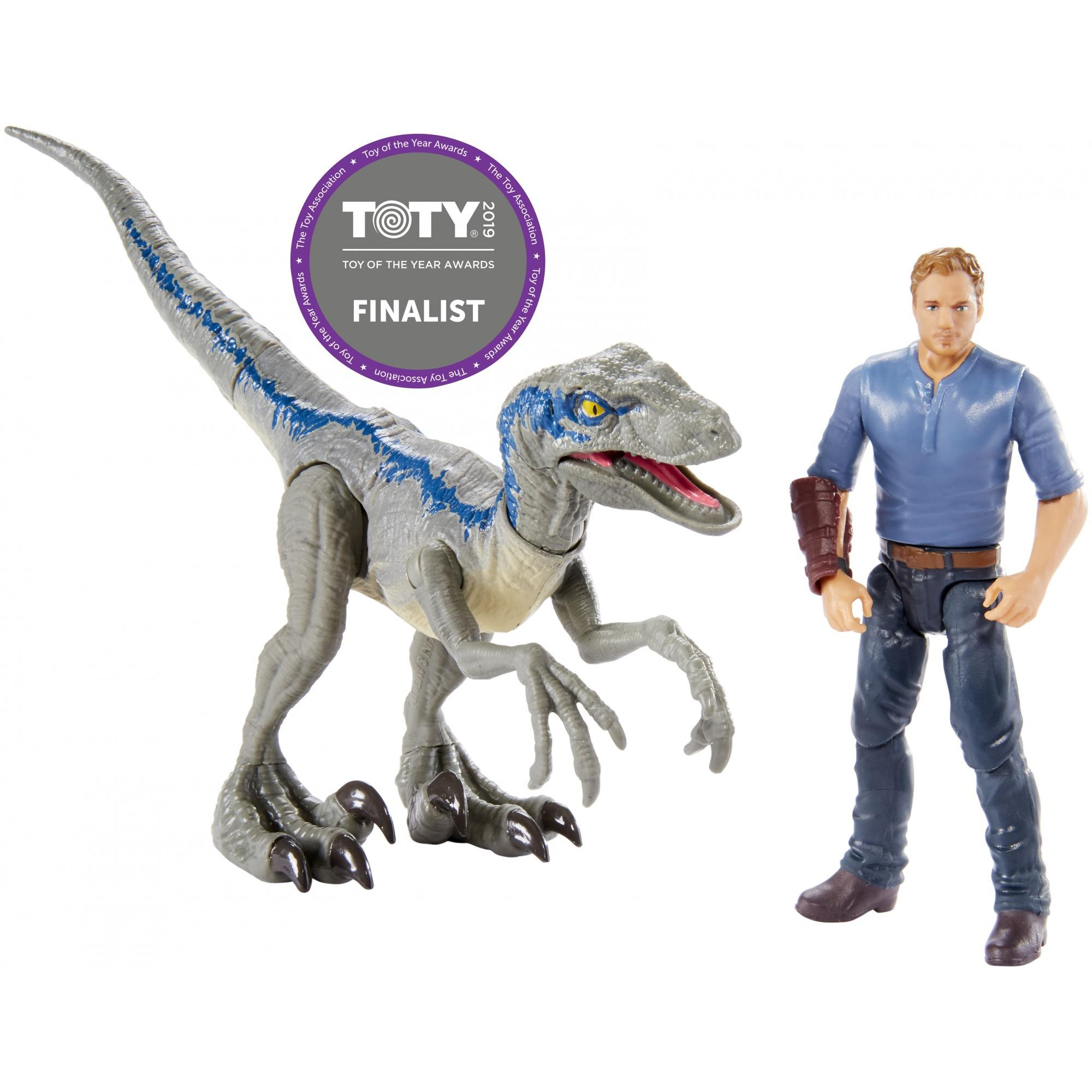 "Jurassic World Story Pack Velociraptor ""Blue"" & Owen"