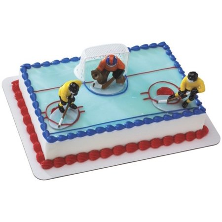 Hockey Face Off Cake Topper - Hockey Cake Toppers