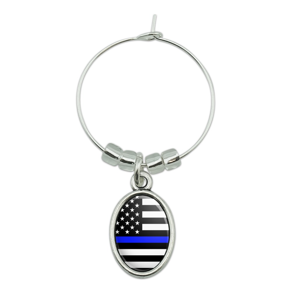 Florida State Flag Wine Glass Drink Marker Charm Ring
