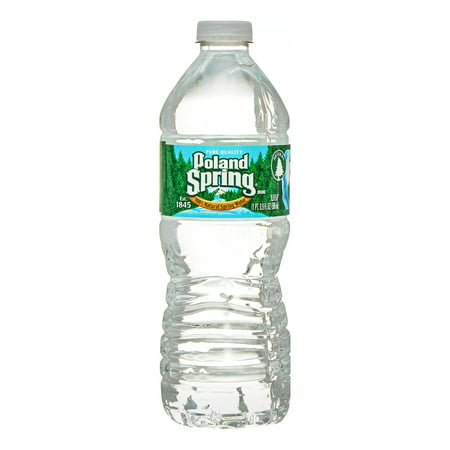 Poland Spring Brand 100  Natural Spring Water  16 9 Ounce Plastic Deposit Bottles  Pack Of 24