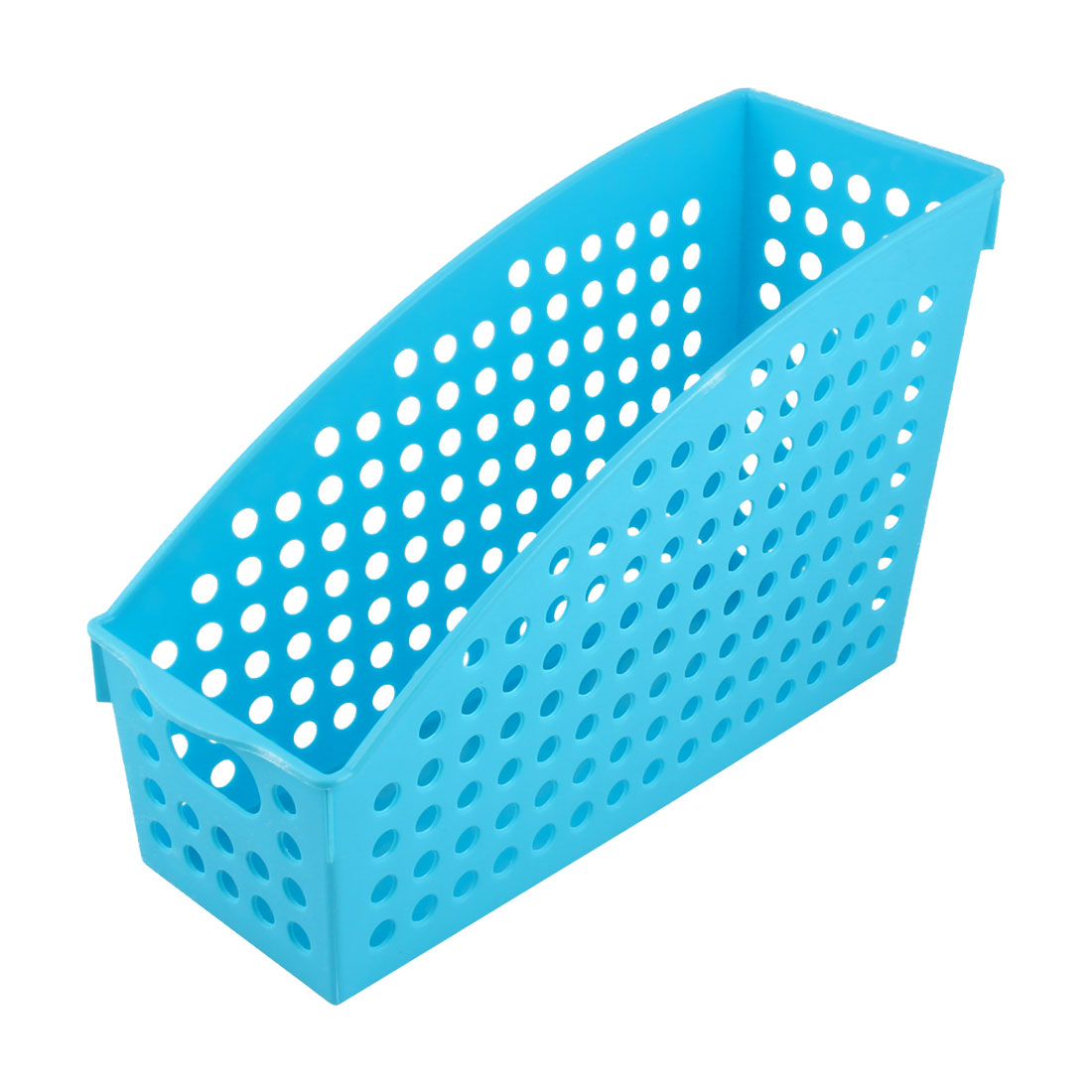 Home Plastic Book Magazine Document File Sundries Storage Basket Blue