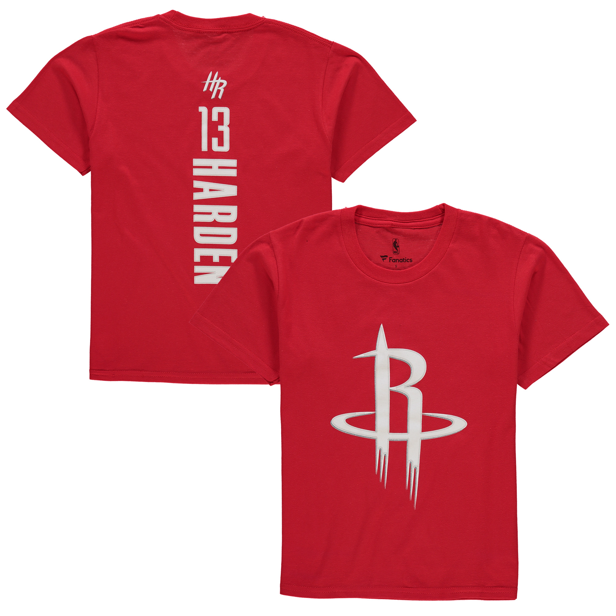 James Harden Houston Rockets Youth Backer Name & Number T-Shirt - Red