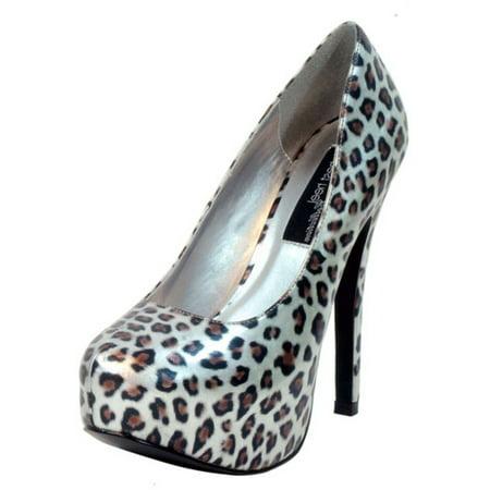 Leopard Platform Pumps - Women's Highest Heel 5.5