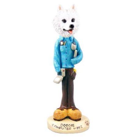 - No.Doog8214 American Eskimo Computer Whiz Doogie Collectable Figurine