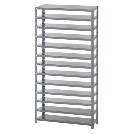 Shelving System,12Dx36Wx75H,Gray QUANTUM STORAGE SYSTEMS 1275-000