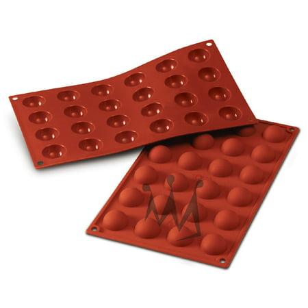 Silikomart Flexible Silicone Non-Stick Half-Sphere Baking Mold 0.3 Oz, 1.18